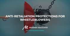 While this fear is entirely justified, the good news is that whistleblowers are protected from retaliation. There are a number of laws that work toward this end, but chief among them are the Dodd-Frank and Sarbanes-Oxley Acts.