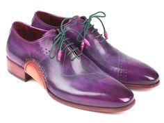 Paul Parkman Opanka Construction Purple Hand-Painted Oxfords Shoes (ID Coronado Leather, High End Shoes, Purple Hands, Handmade Leather Shoes, Hand Painted Shoes, Leather Dress Shoes, Painting Leather, Men S Shoes, Designer Shoes