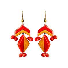 Flaming Red Terracotta Earrings