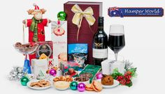 Our Deal - Christmas hamper including a bottle of Wolf Blass wine, chocolates