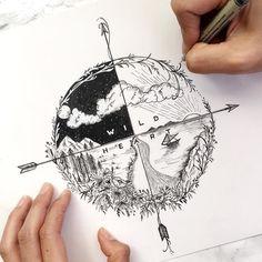 Minus Segelboot + mehr Wellen und ein Raumschiff am Nachthimmel, # Bleistift …… Minus sailboat + more waves and a spaceship in the night sky, # Pencil … Kunst Tattoos, Body Art Tattoos, Tatoos, Ocean Tattoos, Cool Drawings, Tattoo Drawings, Drawings About Love, Tattoo Illustrations, Space Drawings