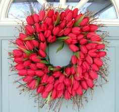 Spring Wreath Spring Tulip Wreath Tulip Door by countryprim  MOM MAKE ME THIS!!!