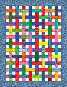 Beth Donaldson: Quiltmaker: Free Quilt Patterns This one is called Lattice and made with partial seams.