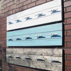 4 Foot Plank Coat Rack With Five Galvanized Boat Cleats Towel Rack Pool, Pool Towels, Towel Racks, Towel Holder, Pool Organization, Pool Storage, Bathroom Storage, Outdoor Storage, Boat Cleats