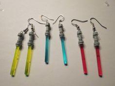 Geek Craft- DIY Lightsaber earrings