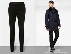Utiliza un pantalón Slim Fit de algodón como símbolo de un estilo propio. #DressPantsWeek #HugoBoss