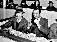 Fred Astaire with David Niven...at the horse races I'll bet! ;)