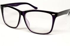 Vintage Retro Wayfarer Clear Sunglasses Eyeglasses Mens Womens Black Purple W118 Style Vault. $8.95