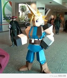 Yes Cloud cosplay win!!