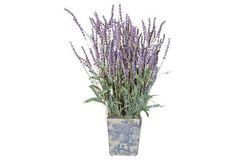 """23"""" Lavender in Pot, Faux"""