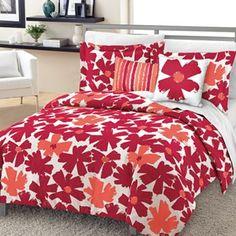 Loft Style Graphic Floral Comforter Set