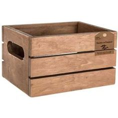Wood Crate with Cut-Out Handles