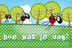 """Gratis e-card: """"Hoe was je dag? E Cards, Greeting Cards, Hoe, Invitations, Words, Friends, School, Quotes, Gift"""