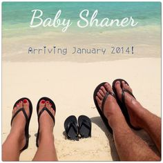 We're having a baby! Our pregnancy announcement from Our Aruba babymoon.