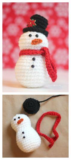 Crochet Amigurumi Snowman Free Pattern
