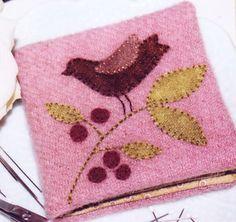 PATTERN - WInterberry Needlebook - cute wool applique PATTERN | eBay