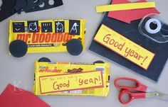 """Hope you have a very Good Year"" taped to a Mr. Goodbar.  A cute gift for the kids or teachers/staff."