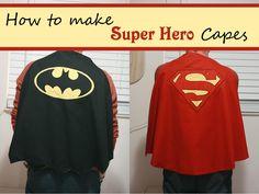 DIY Tutorial: DIY Halloween Costume / DIY Superhero or Superman Capes - Bead&Cord