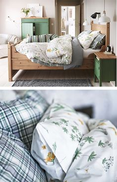 Create the perfect springtime bedroom with bright bed linens that bring a touch of nature to your comfort zone.
