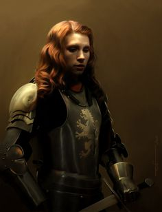 Women Fighters In Reasonable Armor - Ladies that kick ass and dress for kicking ass.    Oh yeah and this awesomeness from euclase-spn:        anna in armor (by request), digital painting, PS    (thanks, Alexis)    (Source: )  via euclase spn.