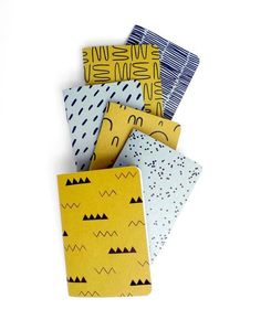 Cotton & Flax Patterned Pocket Notebooks