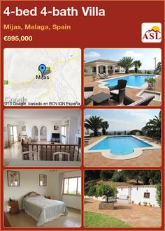 4-bed 4-bath Villa in Mijas, Malaga, Spain ►€895,000 #PropertyForSaleInSpain