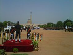 """Photo from """"Ceremonial Changing of the Guard"""" in New Delhi, India. Happens every Saturday (except on Gazetted Holidays which fall on Saturdays)."""
