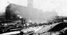 The SS Eastland was a passenger ship based in Chicago and used for excursion tours. On July 1915 the ship rolled over while tied to a dock in the Chicago River. A total of 844 passengers and crew. Great Lakes Shipwrecks, Titanic Underwater, Today In History, Local History, Family History, Chicago River, Interesting History, Chicago Illinois, American History