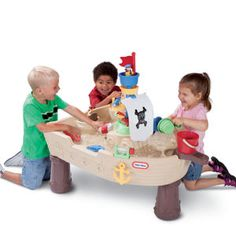 Creative play and active play come together with our Anchors Away Pirate Ship Water Table from #littletikes
