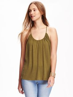 Relaxed Suspended-Neck Tank for Women Product Image