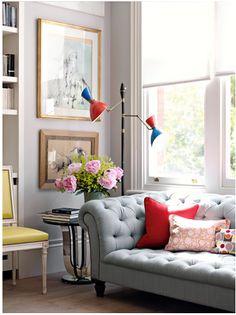 Corner living room vignette