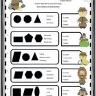 Use this geometry worksheet on Shape Attributes to assess student understanding of how many corners, angles, and sides a shape may have.  Answer ke...