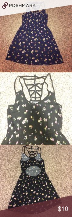 Wet seal! Black floral open back dress! Excellent condition! Worn once!! Check out my other listings! Bundle and save:) Wet Seal Dresses Mini