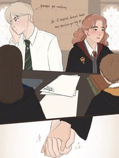 Harry Potter Tumblr, Harry Potter Hermione, Anel Harry Potter, Draco And Hermione Fanfiction, Harry Potter Couples, Arte Do Harry Potter, Fanart Harry Potter, Cute Harry Potter, Harry Potter Ships
