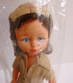 "1970s nurse doll ""Nurse Nancy"""
