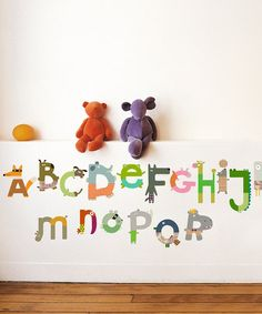 Take a look at this Animal Alphabet Wall Decal Set by Nouvelles Images on #zulily today!