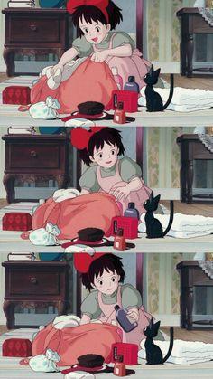 Kiki's Delivery Service Old Anime, Manga Anime, Anime Art, Studio Ghibli Art, Studio Ghibli Movies, Hayao Miyazaki, Totoro, Personajes Studio Ghibli, Studio Ghibli Background