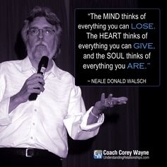 """#nealedonaldwalsch #american #author #conversationswithgod #mind #heart #soul #love #relationships #coachcoreywayne #greatquotes Photo by Rainer Binder/ullstein bild via Getty Images """"The mind thinks of everything you can lose. The heart thinks of everything you can give, and the soul thinks of everything you are."""" ~ Neale Donald Walsch"""