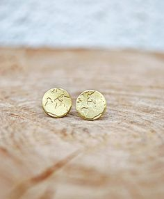 gold world map earrings