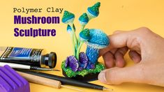 Learn how to sculpt mushrooms using polymer clay, acrylics and dry pastels. A class by Stéphanie Kilgast // PetitPlat