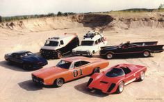 General Lee, Coyote , the Batmobile, the Ghostbusters and Mr T's van.