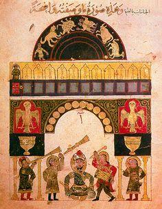 Castle Clock constructed by Al-Jazari in 1206.