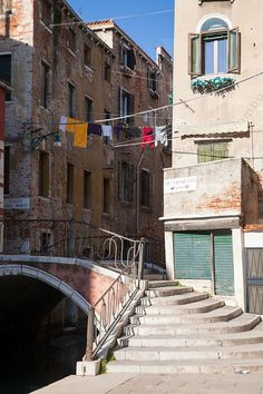 Street scene in a quarter of Venice, Italy by Matteo Colombo Travel Photography