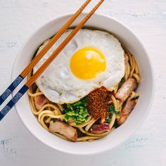 Chinese BBQ Pork & Egg Noodles