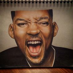 Portrait drawing of Will Smith by Chanuen Flint