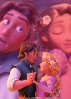 Eugene and Rapunzel Disney Dream, Disney Love, Disney Magic, Disney Art, Walt Disney, Disney Rapunzel, Princess Rapunzel, Rapunzel And Eugene, Princess Movies