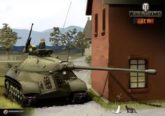 "Tank Illustrations ""Artist's Choice"" Part 1: IS-3 / Shibafu | Illustration Column | World of Tanks"