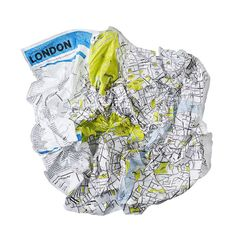 Crumpled map concept. Great design, acts the way it needs to in accordance with the user, not the other way around.