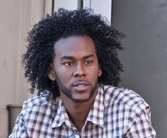 5 Men with Crushworthy Natural Hair: Franklin's long curls have to stay popping because he's a model and actor! He also works as a production assistant, and supported Kim Kimble while she was doing hair for BET's The Game several years ago.