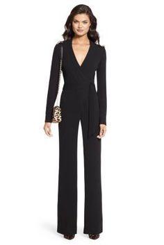DVF Margot Silk Wrap Jumpsuit $598